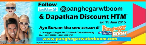 Ticket Discount Panghegar Waterboom